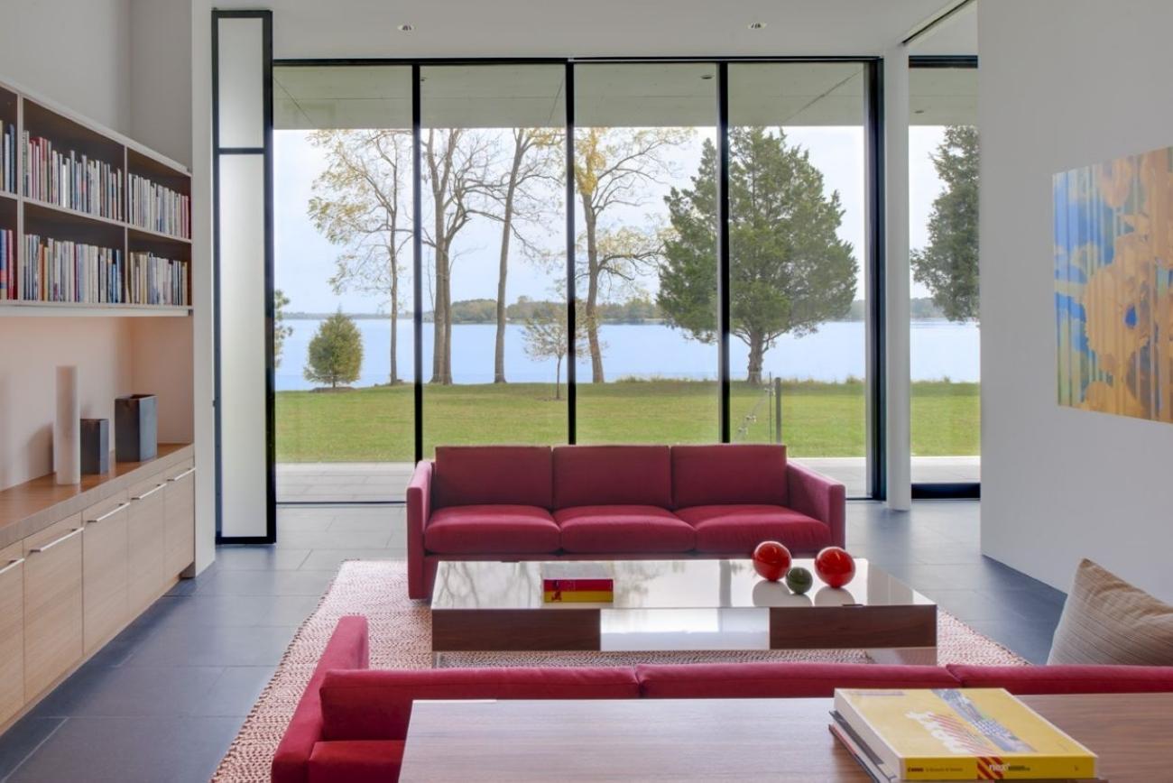 Как сделать дом с панорамными окнами 76