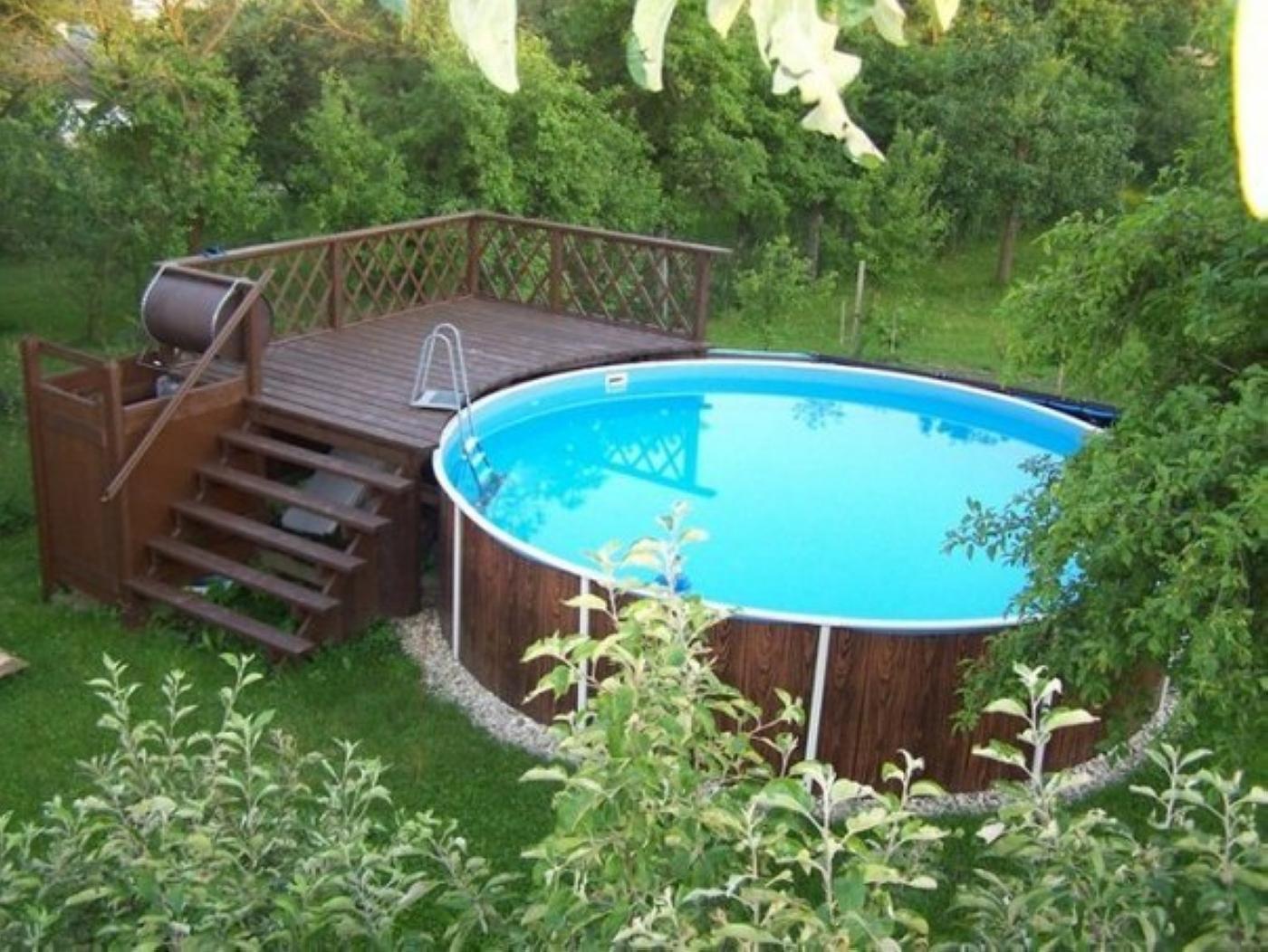 Как сделать подиум для надувного бассейна своими руками